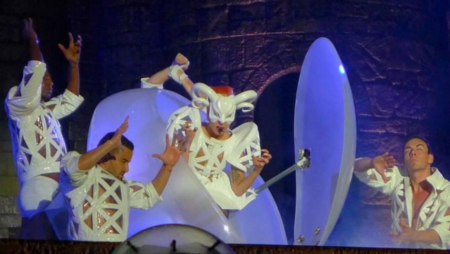 Lady Gaga fez seu o segundo show da turnê pelo Brasil no Morumbi