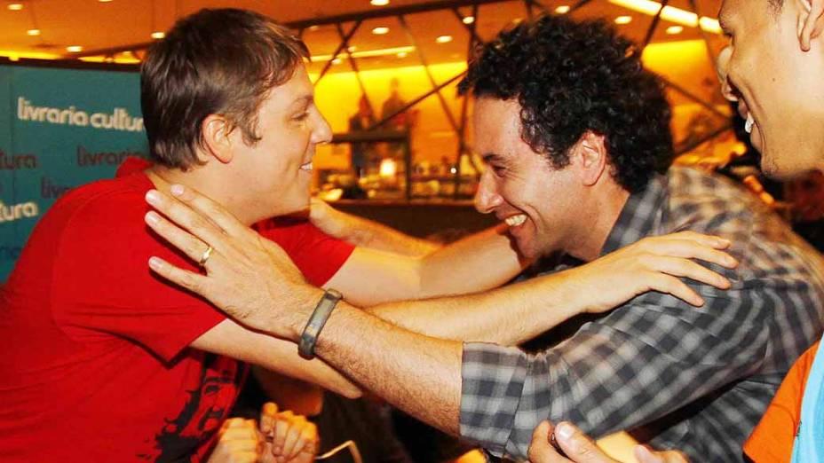 Fábio Porchat e Fábio Luque, na Livraria Cultura do Conjunto Nacional, em São Paulo