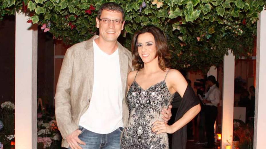 """Marcello Airoldi, ator da novela """"A vida da gente"""", durante festa de lançamento - 25/09/2011"""