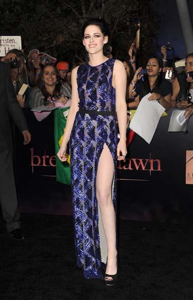 Kristen Stewart na première do filme <em>A Saga Crepúsculo: Amanhecer - Parte 1,</em> em Los Angeles