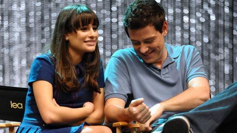 Lea Michele e Cory Monteith em 2011