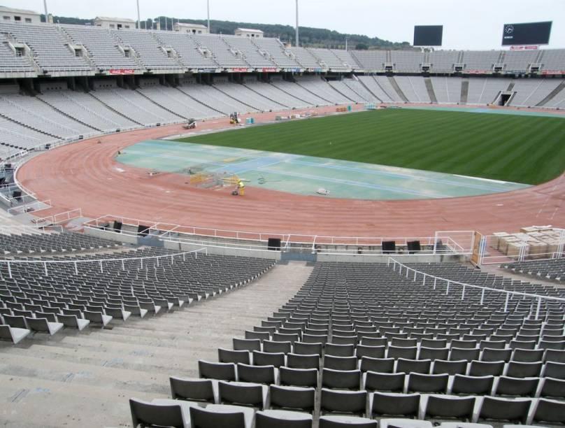 O estádio olímpico de Montjuïc, em Barcelona