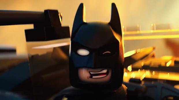 Batman versão lego em cena do filme The Lego Movie