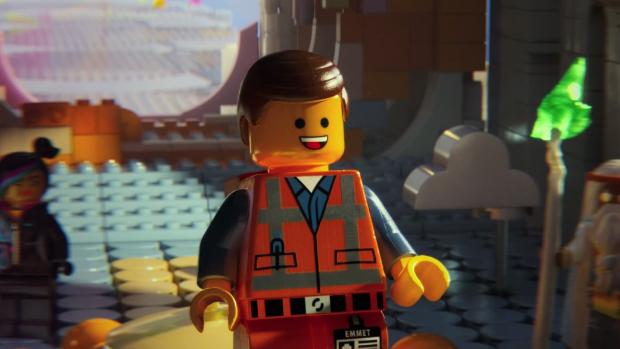 Protagonista Emmet em cena do filme <em>The Lego Movie</em>