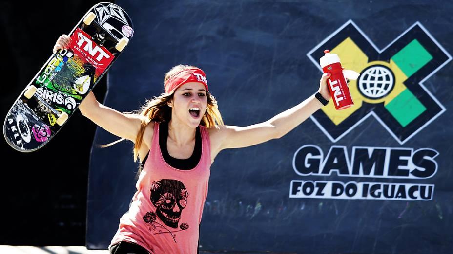 Leticia Bufoni vence street e conquista segundo ouro do Brasil nos X-Games em Foz do Iguaçu