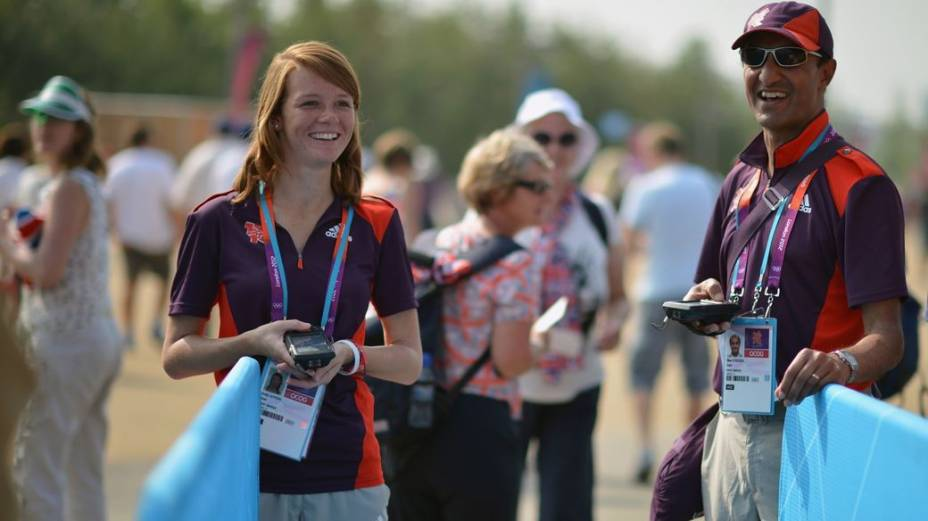 Voluntários na Olimpíada de Londres