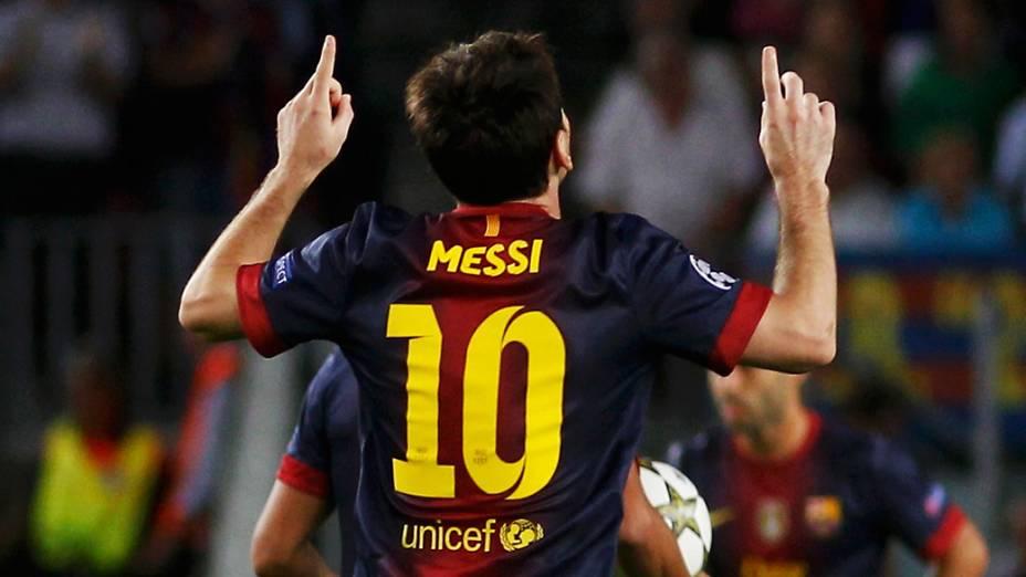 Lionel Messi, marcou duas vezes e garantiu a vitória do Barcelona sobre o Spartak Moscou, em partida válida pela primeira rodada da Liga dos Campeões da UEFA