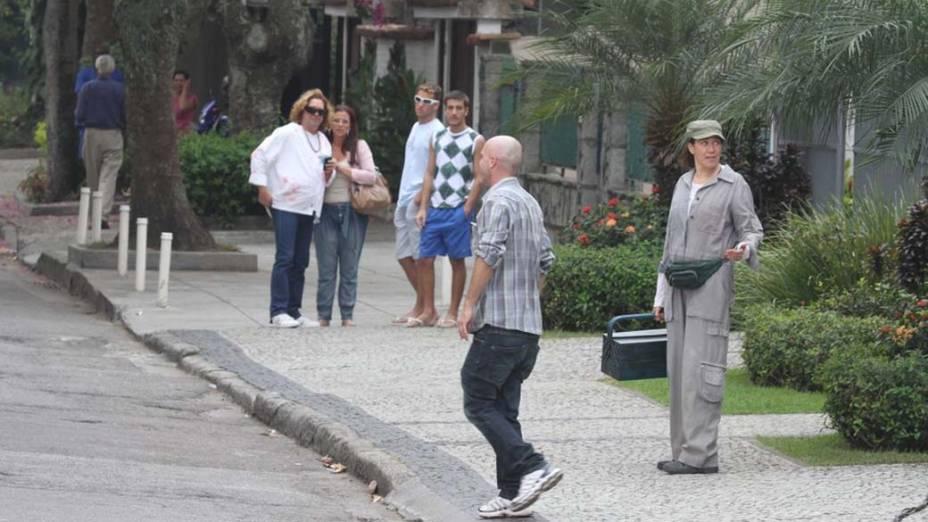 Lília Cabral durante gravação da novela <em>Fina Estampa</em> da Rede Globo, Rio de Janeiro