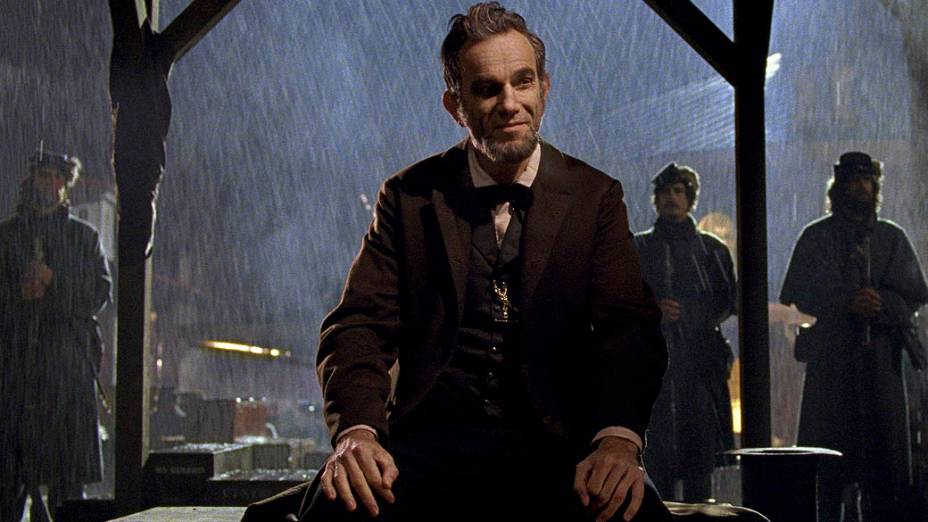 Daniel Day-Lewis interpreta Abraham Lincoln no filme Lincoln, do diretor Steven Spielberg