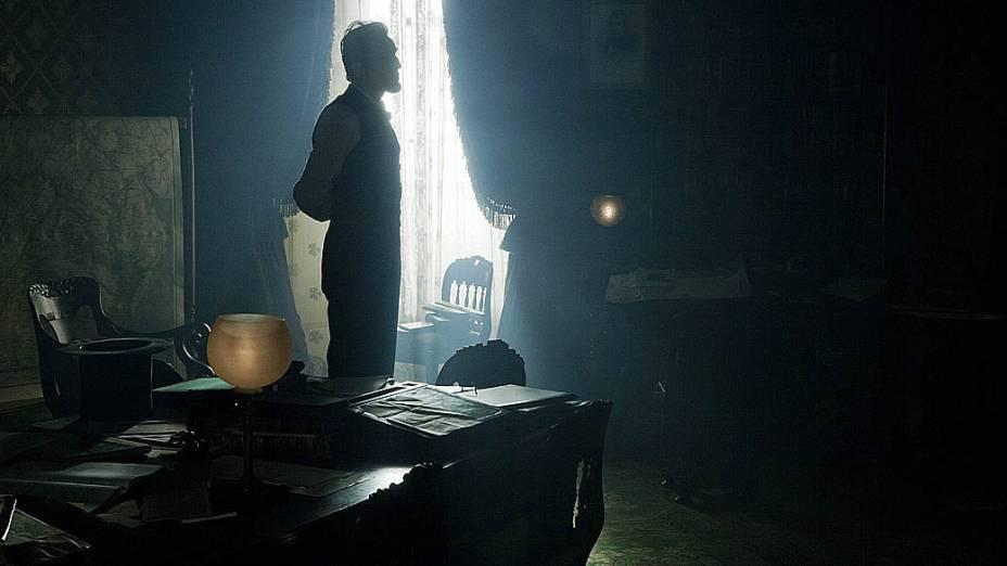 Daniel Day-Lewis no filme Lincoln, do diretor Steven Spielberg