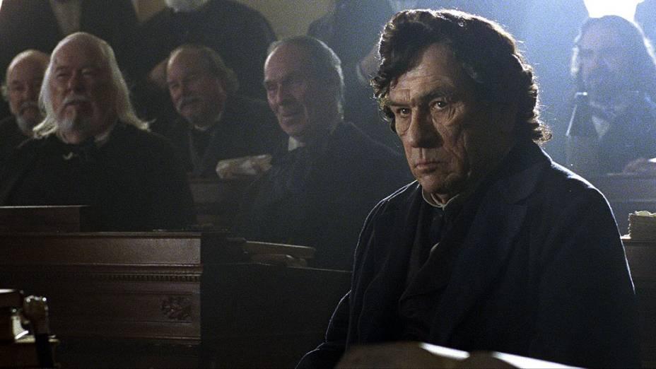Tommy Lee Jones como Thaddeus Stevens no filme Lincoln, do diretor Steven Spielberg
