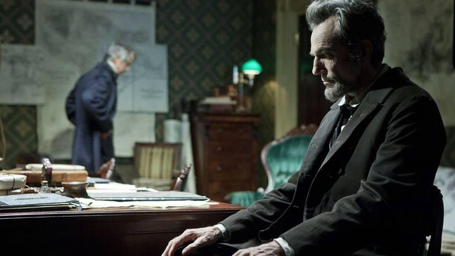 Daniel Day-Lewis como Abraham Lincoln no filme Lincoln, do diretor Steven Spielberg
