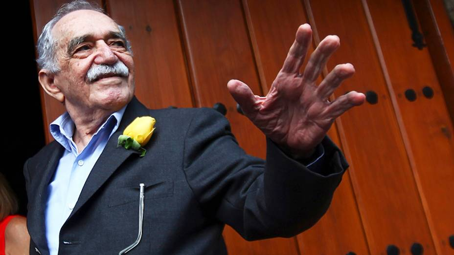 O escritor colombiano Gabriel García Márquez, vencedor do Nobel de literatura em 1982