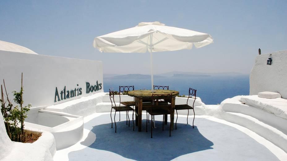 Livraria Atlantis Books em Santorini, Grécia