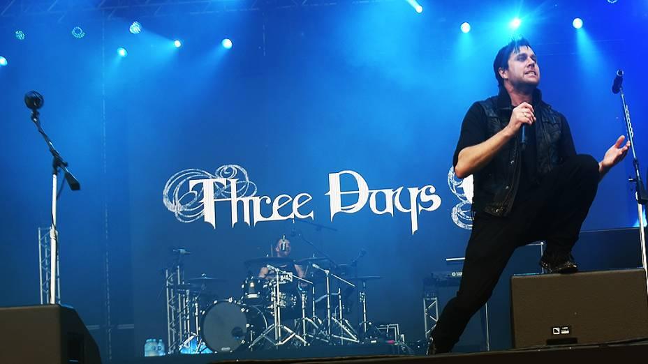 Apresentação da banda Three Days Grace, no segundo dia do Festival Lollapalooza 2015, no Autódromo de Interlagos, em São Paulo
