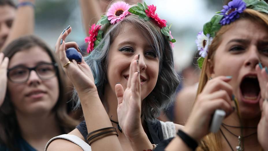 Público no primeiro dia do Lollapalooza no Autódromo de Interlagos, em São Paulo