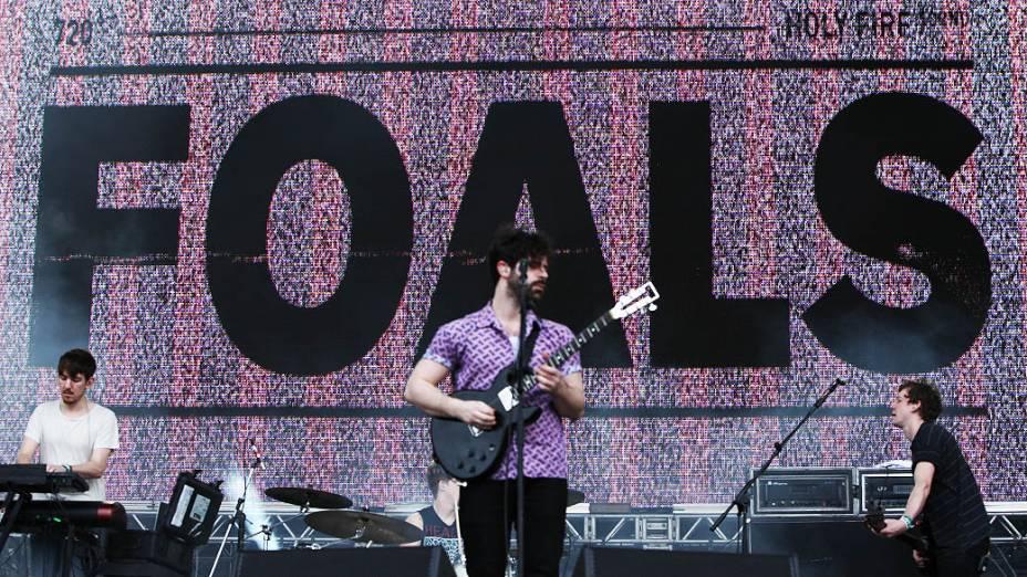 Apresentação da banda Foals no Lollapalooza, em São Paulo