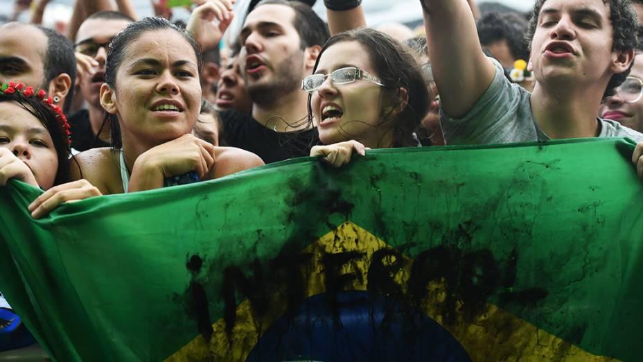 Público durante apresentação do Interpol no Lollapalooza 2015, em São Paulo