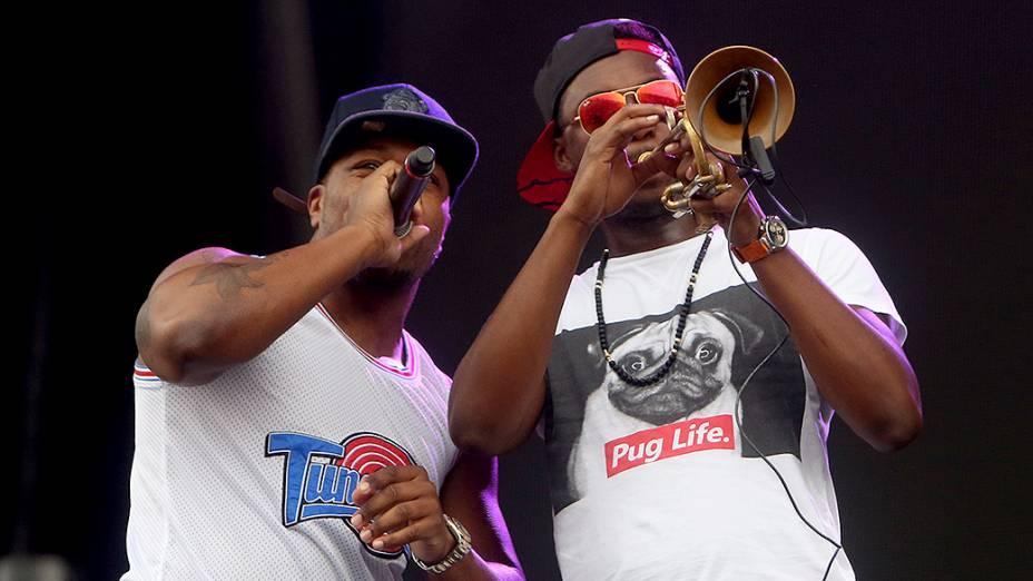 Banda Rudimental se apresenta no segundo dia do Festival Lollapalooza 2015, no Autódromo de Interlagos, em São Paulo