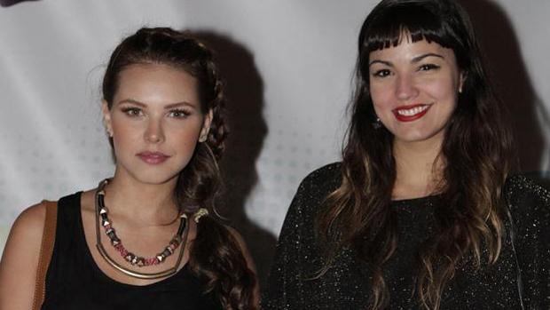 A atrizes Louise D´Tuani e Mariana Cortines