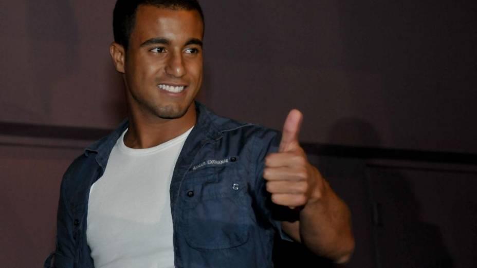 Lucas no aniversário do amigo Neymar