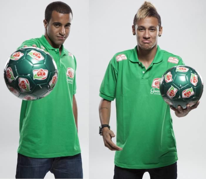 Lucas e Neymar em campanha do Guaraná Antarctica