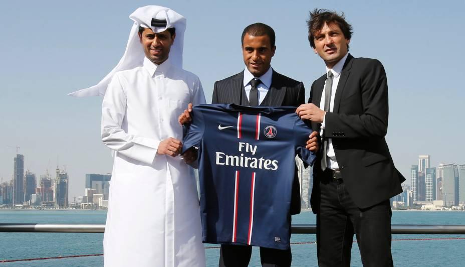 O meia-atacante Lucas foi apresentado oficialmente, como novo reforço do Paris Saint-Germain