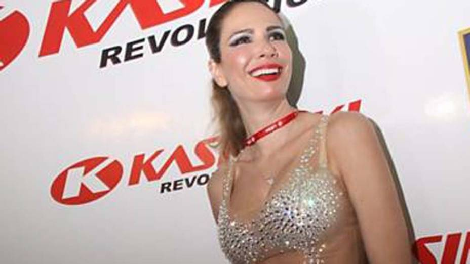 Luciana Gimenez no carnaval de Salvador, em 20/02/2012