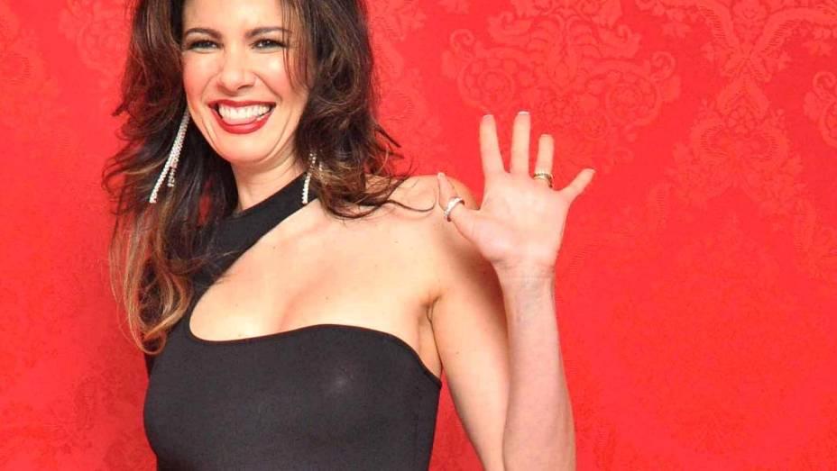 A modelo e apresentadora Luciana Gimenez durante a festa de inauguração da loja Christian Louboutin, no Shopping Iguatemi, em 2009