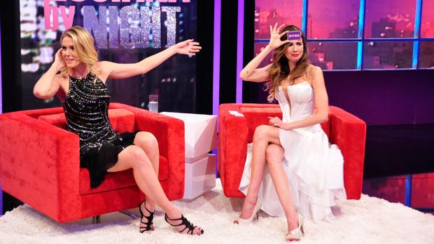 Ana Hickmann e Luciana Gimenez em <em>Luciana By Night</em>