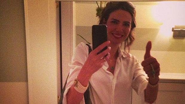 Luciana Gimenez posta foto antes de entrar ao vivo no talk show <em>The View</em>