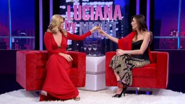 Luciana Gimenez e Val Marchiori em <em>Luciana By Night</em>