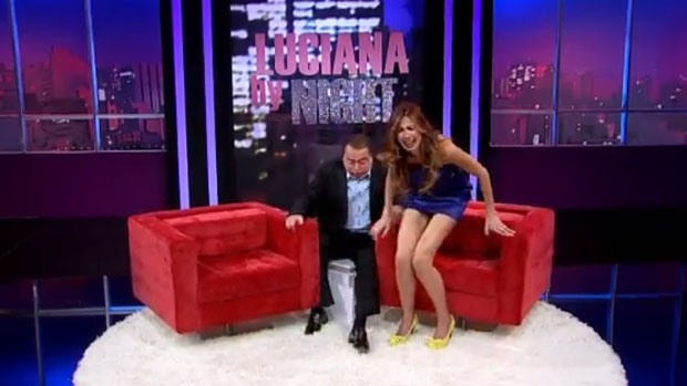 Raul Gil no programa <em>Luciana By Night</em>