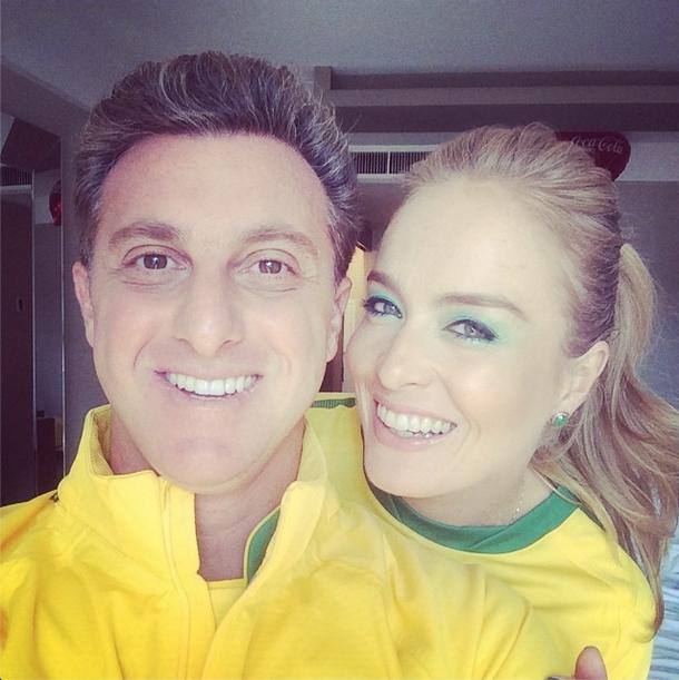 Luciano Huck e Angelica rumo ao Itaquerão para o jogo do Brasil