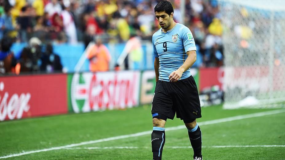 O uruguaio Luis Suárez durante o jogo contra a Inglaterra no Itaquerão, em São Paulo