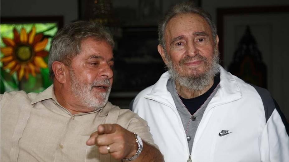 Presidente Lula conversa com Fidel Castro durante visita a Havana, Cuba, em 24/02/2010 Ricardo Stuckert/PR