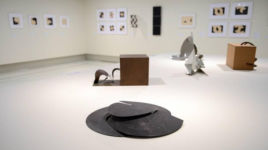 Exposição da artista Lygia Clark no Itaú Cultural, na Avenida Paulista