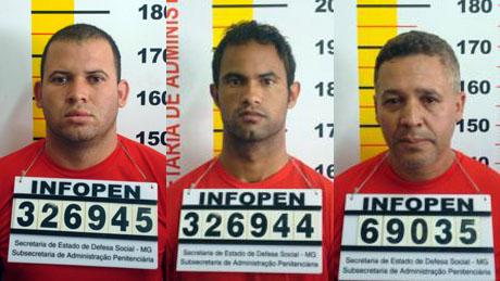Luiz Henrique, o Macarrão, o goleiro Bruno, e Marcos Paulista, fichados pela polícia de Minas