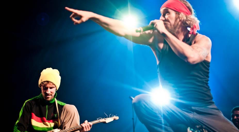 Show de Monobloco, Macaco e Pepeu Gomes no palco Sunset, no quinto dia do Rock in Rio, em 30/09/2011