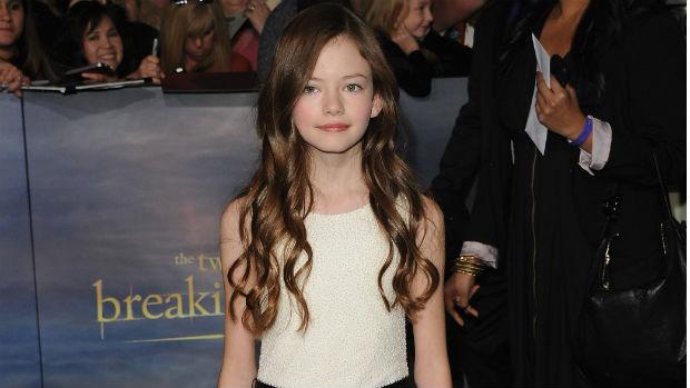 Mackenzie Foy, que interpreta Renesmee, filha de Edward e Bella, em Amanhecer - Parte 2