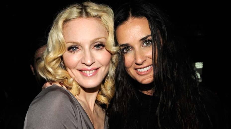 Madonna e Demi Moore em Nova York, em fevereiro de 2008