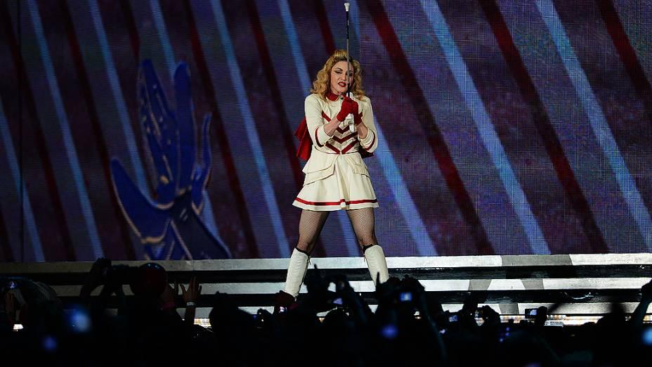 Show da cantora Madonna nesta terça-feira (04), no estádio do Morumbi, em São Paulo