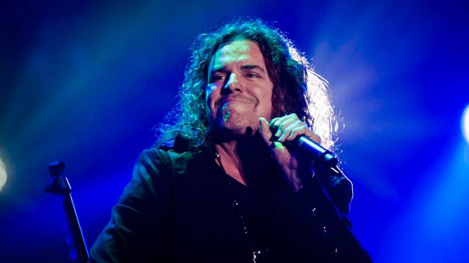 Maná durante o show no palco Mundo, no sexto dia do Rock in Rio, em 01/10/2011