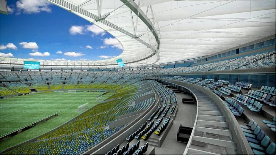 Projeto do Maracanã, palco da decisão da Copa das Confederações, com entrega marcada para o início de 2013