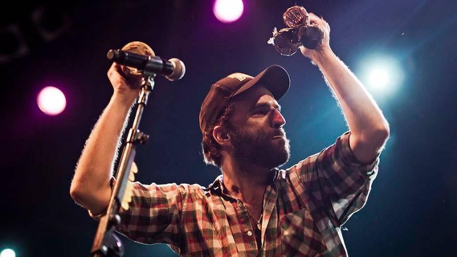 Show de Marcelo Camelo e The Growlers no palco Sunset, no último dia do Rock in Rio, em 02/10/2011