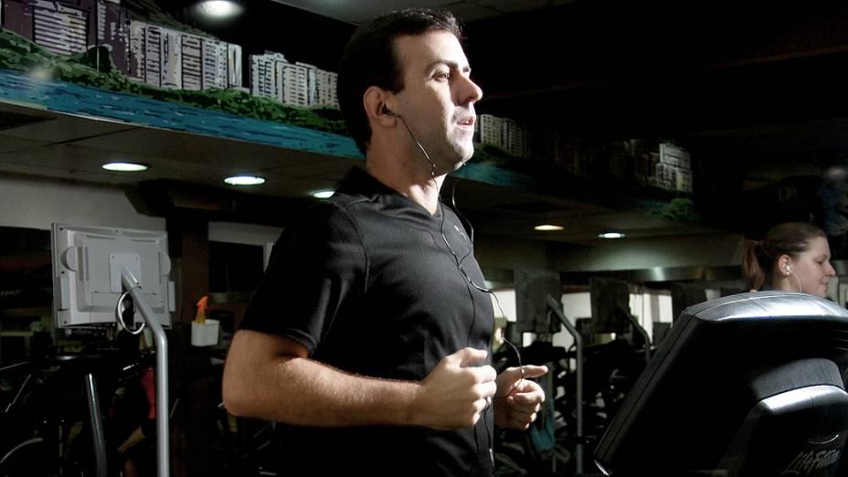 Marcelo Freixo, do PSOL: corridas na esteira ajudaram a perder 10 quilos, depois de um período em que foi forçado a parar os exercícios