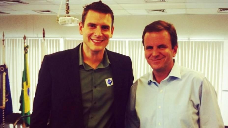 Marcelo Hodge Crivella e o prefeito do Rio, Eduardo Paes