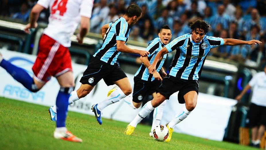 Marcelo Moreno, durante partida do Grêmio contra o Hamburgo na inauguração da Arena em Porto Alegre