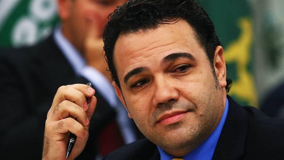 Marco Feliciano durante reunião da Comissão de Direitos Humanos e Minorias da Câmara dos Deputados