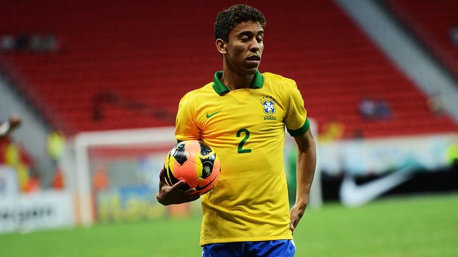 Marcos Rocha durante o amistoso entre Brasil e Austrália no estádio Mané Garrincha em Brasília